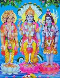 Trimurti: Brahma, Visnú, Shiva