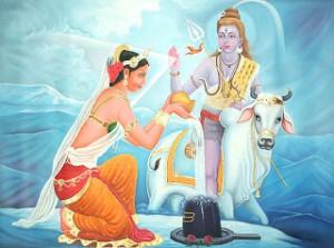 Shiva y su esposa Parvati