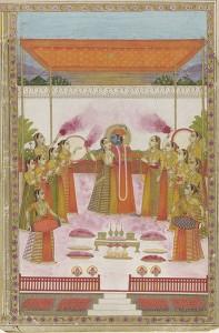 395px-A_Holi_Festival_-_Krishna_Radha_and_Gopis
