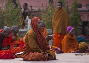 Buddhist Man Meditating