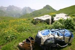 botas y mochila