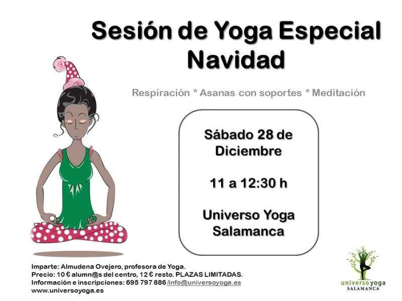 sesion de Yoga Especial Navidad