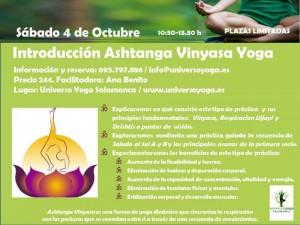 Cartel Ashtanga Vinyasa Yoga Universo Octubre